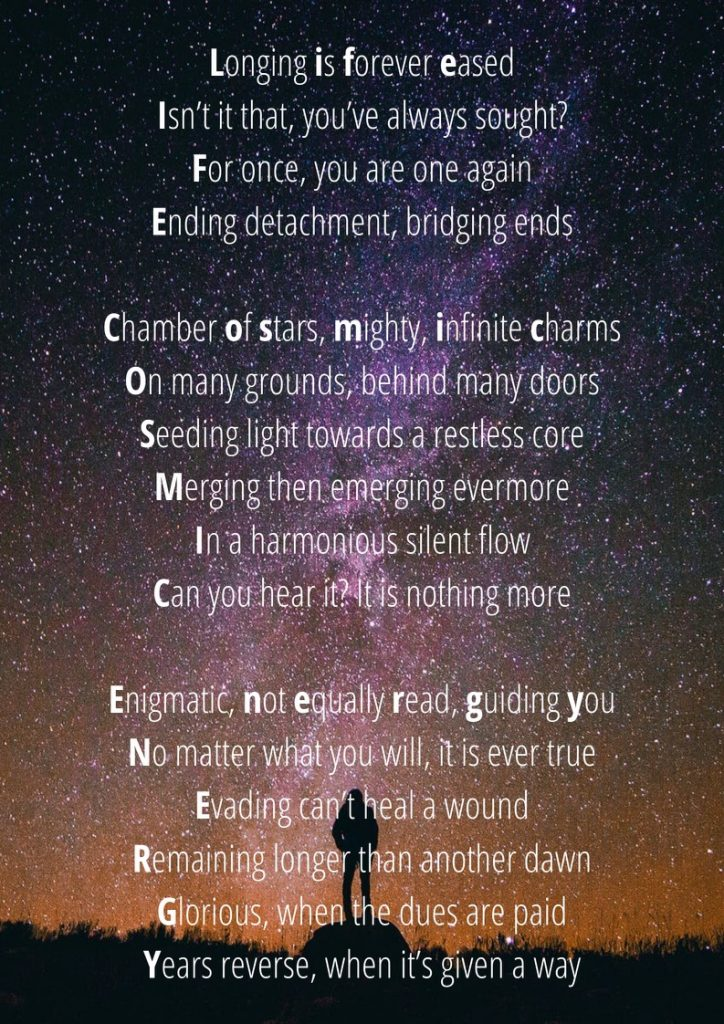 Poem about meeting the knowledge of Life-Cosmic Energy