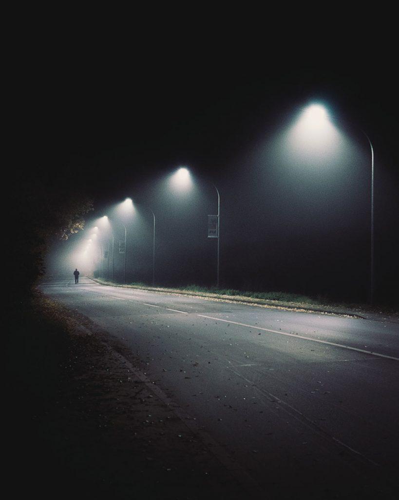 Ali on a dark street